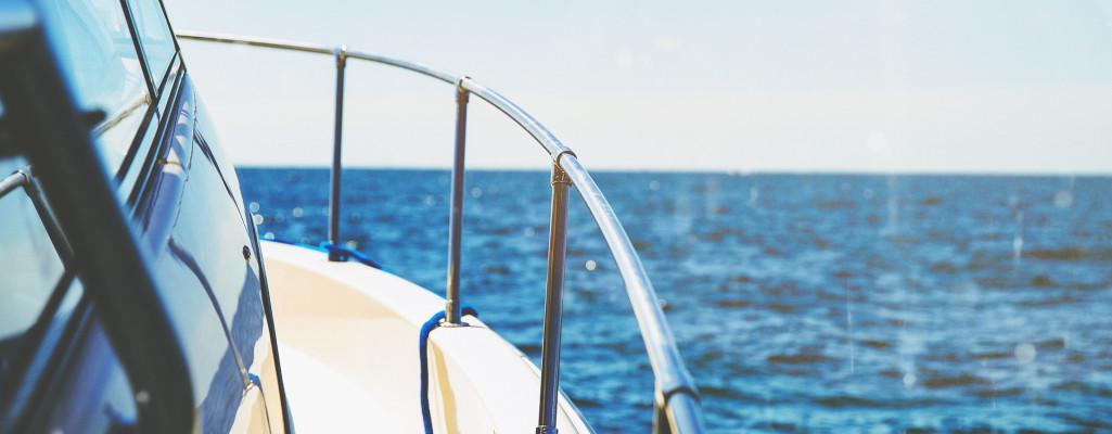 Boat Railing at Sea