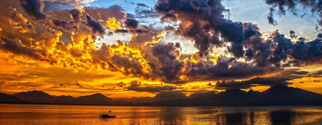 Boat with Yellow Sky